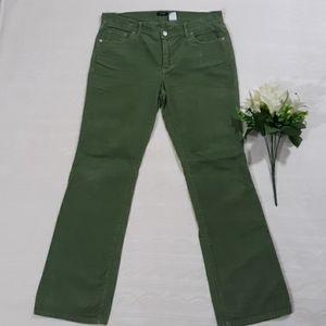 J. Crew Green Corduroy Pants sz 8